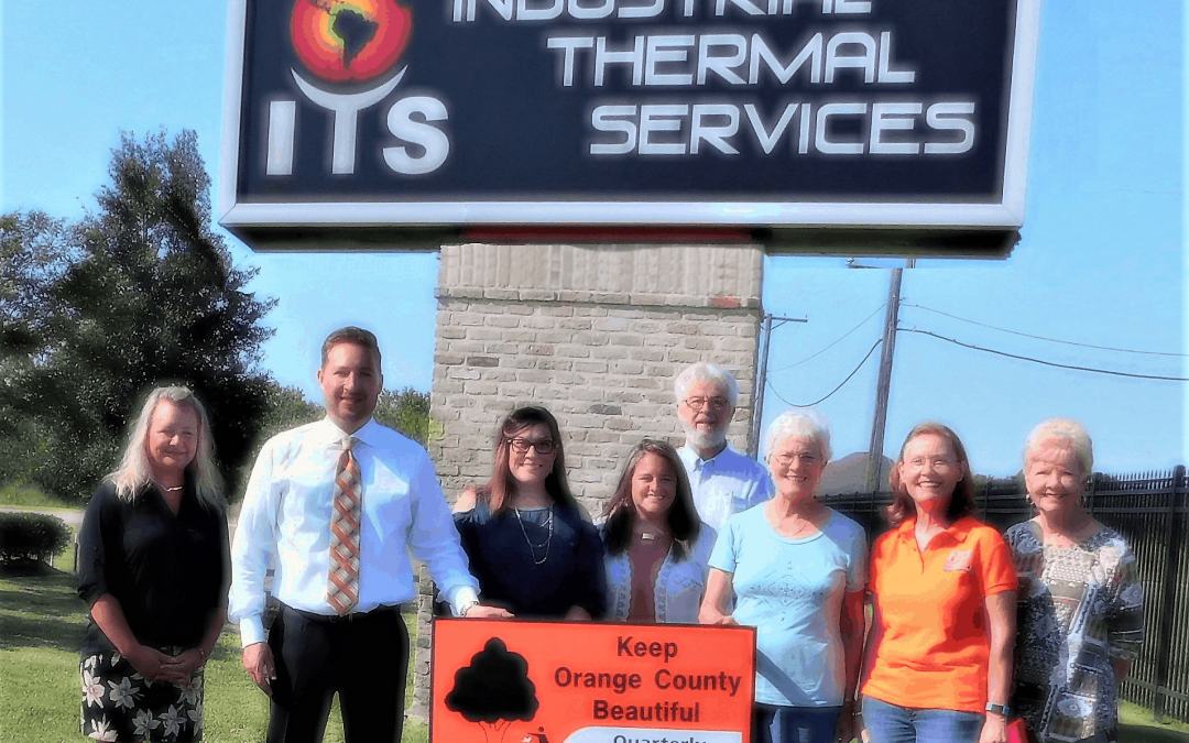 Industrial Thermal Services is recognized by Keep Orange County Beautiful