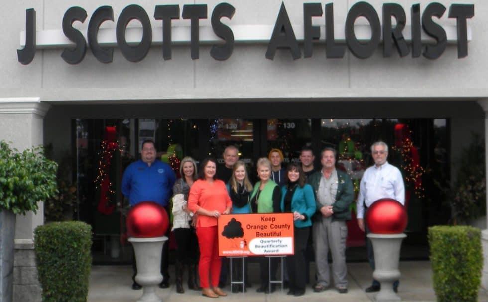 KOCB Honors J Scotts Aflorist