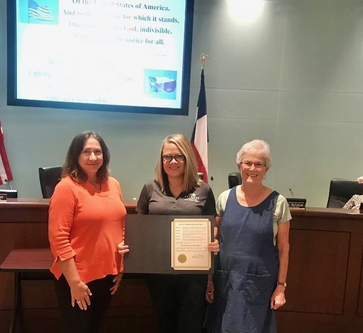"""VIDOR PROCLAIMS AUGUST """"CURBSIDE RECYCLING MONTH"""""""